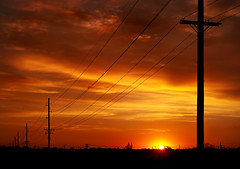 Sunset, Windsor Road (Tau Zero) Tags: sunset powerlines redsky