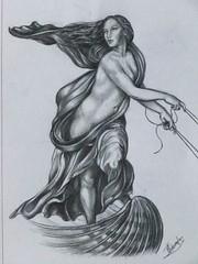 Drawing aug 2012 (bazza-fastbeetle) Tags: woman holland dutch drawing kunst renaissance kunstenaar bazza potlood rafal verburgh