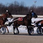 107 - race 7 - A J Cress (#3) w/ Mark Headworth, Macho Quattro (#1) w/ Larry Lake and Chip Leader (#6) w/ Lindsay Moen thumbnail