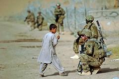 Alaska National Guard Soldier patrol in Afghanistan