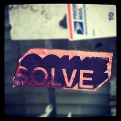 SOLVE (billy craven) Tags: streetart chicago sticker rip solve slaptag uploaded:by=instagram