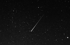 2012 perseid meteor split (Robbin Glliner) Tags: bw canon stars shower amazing lucky 7d split meteor 2012 perseid