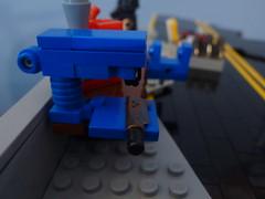 Drill Press (SillyKidzGTL) Tags: bridge lego tiny tt minifig lawnchair tactical sigfig brickarms apocalego tinytactical