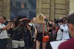 Hanne GABY (mie_norwegianbrunch) Tags: show summer vacation paris france fashion blurry model nikon gaby bokeh duty july photographers before off week mm nikkor 50 hanne couture haute valentino fashionweek streetstyle d5100