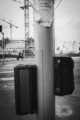 New and old (Fredrik Forsberg) Tags: sweden stockholm pole cranes speaker 24 crosswalk vergngsstlle solnavgen stlluppsomjourhem
