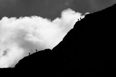 A Scesa di Testa (bebo82) Tags: people blackandwhite bw clouds nuvole pentax descent persone summit biancoenero cima triglav discesa tricorno pentaxk20d pentaxk20