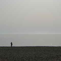 La última bañista de Carboneras (quijano M) Tags: españa beach andalucía spain playa almería carboneras