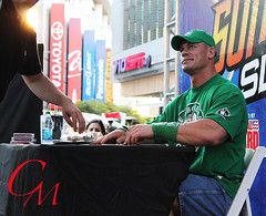 John Cena at SummerSlam Axxess 2012 (ClaireCMurrayPhotography) Tags: california la losangeles wrestling wwe staplescenter johncena summerslam axxess nokiaplaza summerslamaxxess