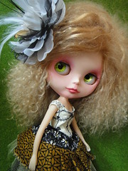 Ginger in Cindy Sowers!! (Kewty-pie) Tags: cindy ginger dress mohair blythe sowers sleepingelf
