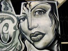 LA Graffiti Lady (See El Photo) Tags: street city urban 15fav favorite white streetart black color art girl face wall lady hair nose graffiti la losangeles eyes paint grafiti graf gray lips urbanart spraypaint eyelash fav graff grafite 1f faved   artedelacalle