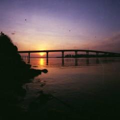 rise & shine (asuramaru™) Tags: film nature sunrise landscape cosina wide scenary 200 malaysia analogue expired 15mm mitsubishi squarecrop 2012 kelantan 8800f negativescanned ƒ45 tokbali sw107 colorsupermx