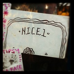 NICE-ONE (billy craven) Tags: chicago graffiti sticker niceone handstyles slaptag uploaded:by=instagram