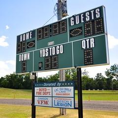 Scoreboard (Dean Gulstad) Tags: summer usa color minnesota june midwest day unitedstates outdoor availablelight northamerica dawson mn 2009 smalltown digitalimage scoreboards nikond90 nikkor18105mm lacquiparlecounty