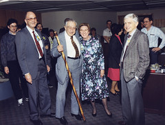 Edward Teller and friends-1990s (llnl photos) Tags: starwars teller nuclearbomb sewell nuckolls manhattanproject llnl manhattenproject hydrogenbomb edwardteller lawrencelivermore genphillips duanesewell johnnuckolls