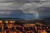 Sunset desert rain... (Robyn Hooz) Tags: park sunset usa cloud storm rain canon wonder shower eos utah is tramonto nuvola desert natural canyon bryce pioggia deserto tempesta draught siccità 70300l
