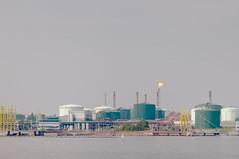 Refinery (pni) Tags: sea environment nature oilrefinery fire porvoo borgå msjlruneberg shipon gulfoffinland archipelago pekkanikrus skrubu pni flame manandenvironment loci this chimney