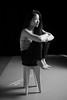K (Fufurasu) Tags: portrait blackandwhite bw woman feet girl beautiful studio asian japanese daylight pretty moody chinese longhair portraiture barefoot actress actor casual stool 500d simulateddaylight