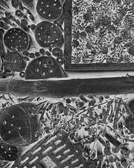 Insect Hotel ~ Insektenhotel - Nature Park Geras - holz schnitt muster sewing pattern schnittmuster (hedbavny) Tags: wood trip shadow summer blackandwhite bw abstract hot tree art nature forest insect hotel austria sterreich ast forrest sommer natur digitalart manipulation abstraction ausflug loch holz ste insekt schatten shady baum niedersterreich naturepreserve outing blumentopf heist ziegel bearbeitung schattig schwarzweis besucherzentrum gelocht insektenhotel geras bockerl unterschlupf lchrig schlupfloch nrodnparkpodyj nationalparkthayatal naturparkgeras tschechischegrenze