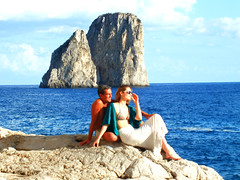 far look (E Pulejo) Tags: blue sea love island couple rocks sitting looking
