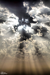 Sunlight between clouds (Mansour.F) Tags: light sky sun sunlight beautiful clouds photography interesting m saudiarabia hdr between canon5dmarkii