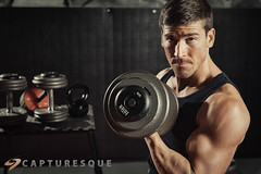 Reps (Capturesque Photography) Tags: man male strong curl workout fitness weights handsom