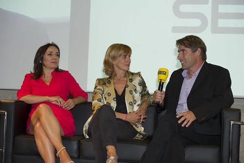 Pepa Bueno (Hoy por Hoy), Gemma Nierga (Hoy por Hoy) y Javier del Pino (A vivir que son dos días)
