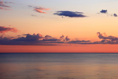Great wide open (sramses177) Tags: sunset sea sky orange mer clouds landscape meer sonnenuntergang sweden schweden himmel wolken sverige havet coucherdesoleil sude falkenberg glommen morup