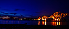 Forth Bridge (Paki Nuttah) Tags: bridge blue light night river dark scotland twilight europe south forth hour illuminate queensferry spiritofphotography