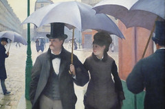 Gustave Caillebotte, Paris Street; Rainy Day, couple