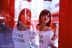 illusion (pitoT+) Tags: film girl mirror nikon exposure slide double illusion taipei agfa fm2 portriat xinyi