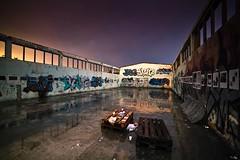 Old glass factory (janplexy) Tags: sky wet rain garbage skateboarding croatia wideangle exhibition faana eos5dmarkii ef14f28liiusm