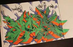 nover gwb aob (noverNYC) Tags: new york nyc black green art pen graffiti book letters style marker graff dope bt copic blackbook pase wildstyle nove bx nover novernyc
