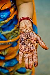 49 Days (B.Bubble) Tags: woman india design hand fingers palm henna bodyart mehndi rajasthan udaipur ornage