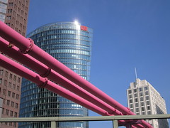 Berlin, Potsdamer Platz (Valerio_D) Tags: berlin germany deutschland potsdamerplatz 1001nights germania berlino bahntower waterpipes 1001nightsmagiccity ruby10 ruby5 ruby15 2012estate