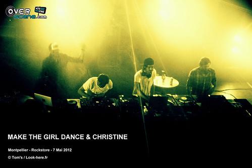 MAKE THE GIRL DANCE & CHRISTINE @ Rockstore - Montpellier - 4LOGO