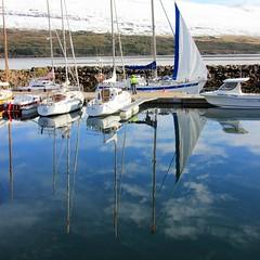 haust vi hfnina (nanna lind) Tags: autumn fall square island iceland sq haust sland islande akureyri