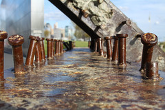 A Beam from one of the Twin Towers (Hip_Hip_Jorge) Tags: newjersey jerseycity worldtradecenter nj beam twintowers hudsonriver september11 hoboken libertystatepark 91101 emptysky oneworldtradecenter emptyskymemorial