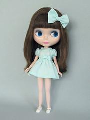 Lavender Fields (Helena / Funny Bunny) Tags: doll lavender blythe velvetminuet sbl lavenderfields funnybunny solidbackground fbfashion