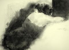 P1015340 (Gasheh) Tags: art painting drawing sketch portrait figure girl pencil charcoal gasheh 2016