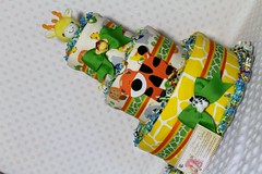 Zoo Animals Baby Diaper Cake Shower Centerpiece Gift (2) (Dianna's Diaper Cakes) Tags: baby diaper cakes shower centerpieces gifts boys girls neutral diannas decoration