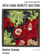 Prickles by Denise Seavey (saqaart) Tags: artquilts saqa fiberart quilts textiles artwork stitched layered cactus blooms flowers