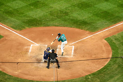 A Bird's View (Trevor Ducken) Tags: seattlemariners seattle robinsoncan sports summer august 2016 baseball mlb nikond600 primelens batter safecofield ballpark
