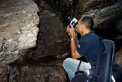 Whatever it takes to get the shot (Kobie M-C Photography) Tags: portrait action candid cave photographer naturephotographer naturephotography perspective adventure kobiemc kobiemercuryclarke
