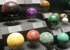 Crystal Spheres (edenpictures) Tags: tellussciencemuseum cartersville georgia mineral rocks crystal crystalballs orbs elbaite sugilite uvarovite quartz