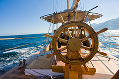 yacht journey, steering wheel (HTML Team) Tags: yacht board boat control journey leisure sea steering steeringwheel summer sun wheel wood tm61122