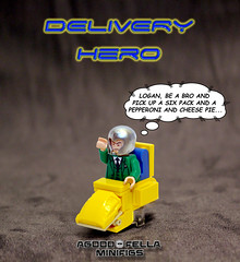 Delivery Hero [A DAY IN THE LIFE] (agoodfella minifigs) Tags: lego marvel marvellego legomarvel minifigures legosuperheroes legomarvelsuperheroes legoxmen minifigure moc marvelcomics marvelheroes xmen professorx charlesxavier wolverine logan