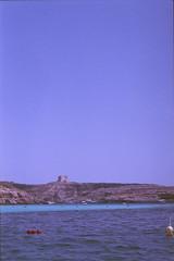 Blue Lagoon - Comino, august 2014 (Tefilo de Sales) Tags: meditarrean malta comino blue lagoon bluelagoon water sea sky summer film fuji fujixtra400 nikkormatel nikkormat nikon nikkor 50mm 35mm analog analogic erasmus trip beach boat expired island