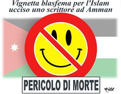 Giordania & Vignette (Moise-Creativo Galattico) Tags: editoriali moise moiseditoriali editorialiafumetti giornalismo attualit satira vignette giordania morte
