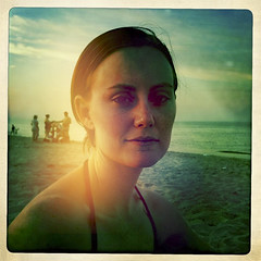 My Beach Angel (Don Rodrigo Flores) Tags: sandyhook eyes young beauty hipstamatic beach nj