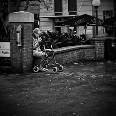 Everyday #Adelaide No. 345 (Autumn/Winter) (michelle-robinson.com) Tags: southaustralia people capturinghumanity xt10 candid capturinglife documentary bw australia everyday everydayadelaide life everydayaustralia photography instagram dailylife cityliving streetphotography xseries blackandwhitephotography streetphotographer fujifilm flickrelite 4tografie adelaide everydayeverywhere citylife michellerobinson streetlife urban monochrome michmutters streetphoto adelaidecbd street smoking woman